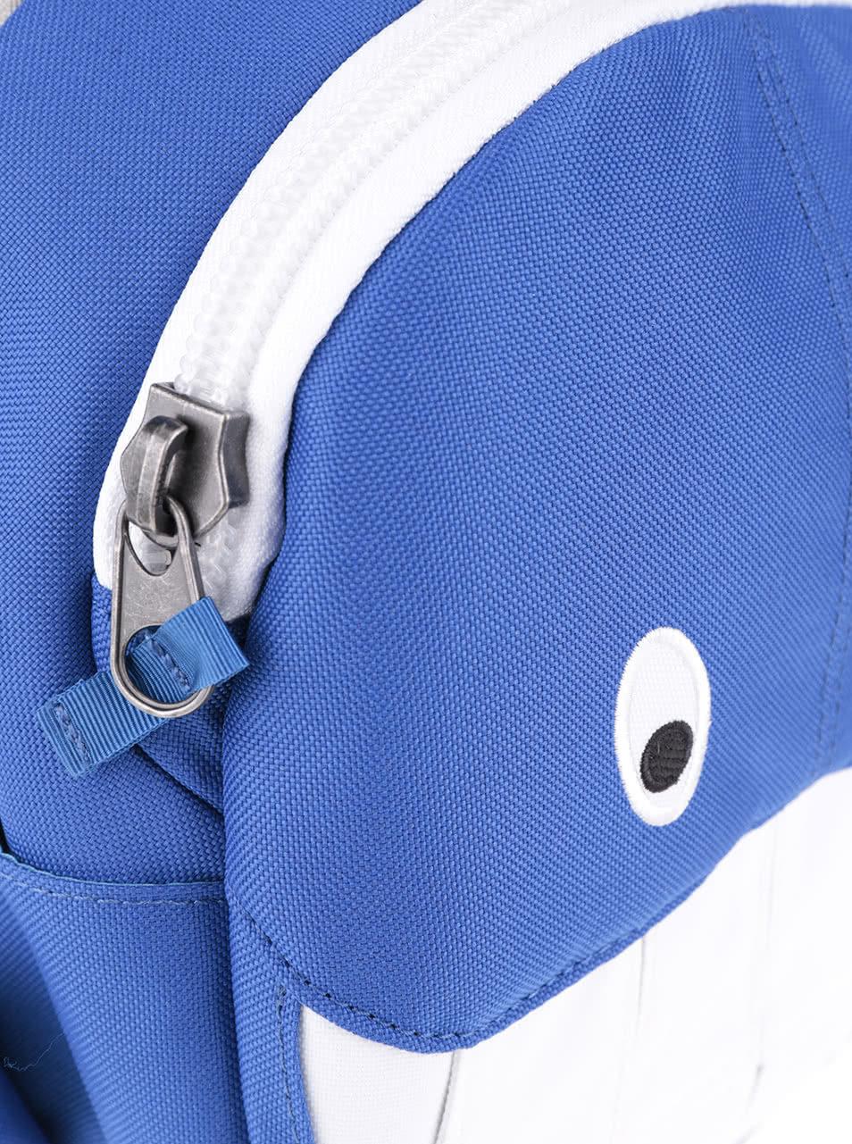 3a9ddbac85 Bielo-modrý batoh v tvare veľryby Affenzahn ...