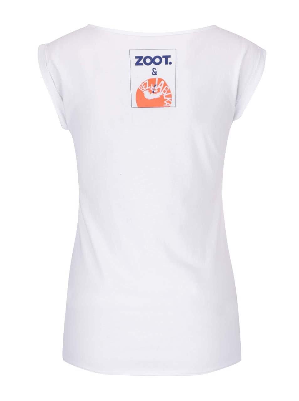 430b8b22c833 Bílé dámské tričko bez rukávů Bez Jablka Nejsem pohodářka ...