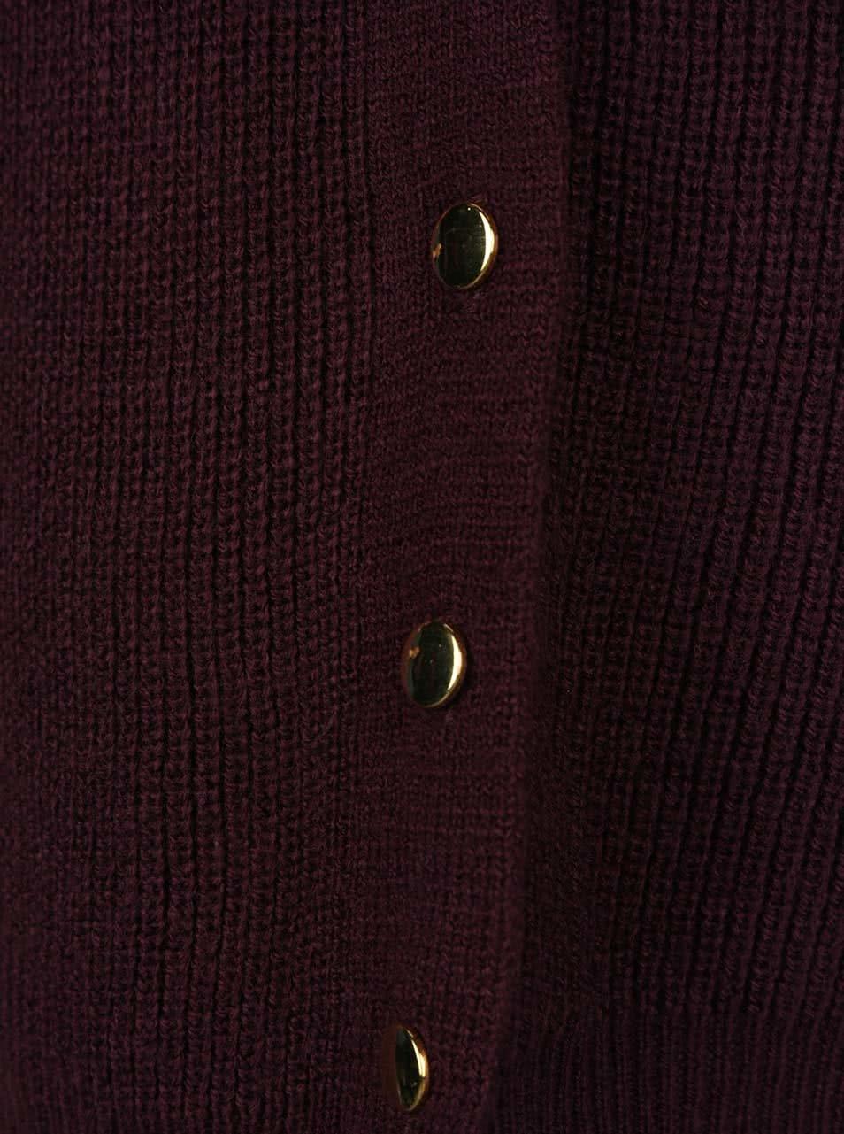 Fialový dlouhý svetr s knoflíky po stranách Dorothy Perkins ... 8ef7a187a3