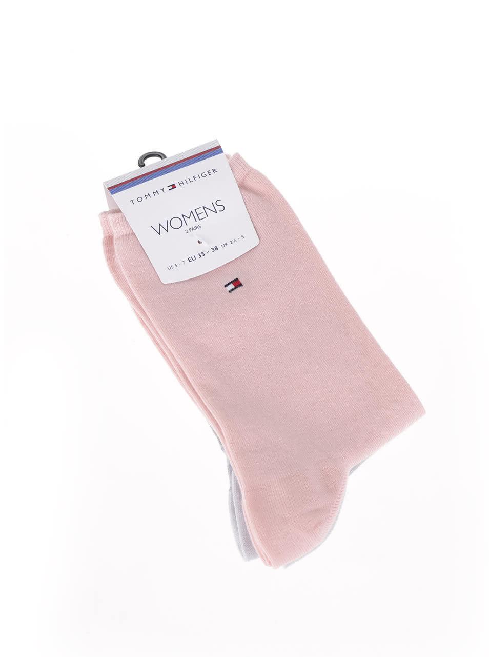 Súprava dvoch párov dámskych ponožiek v ružovej a sivej farbe Tommy Hilfiger  ... e589378bf02
