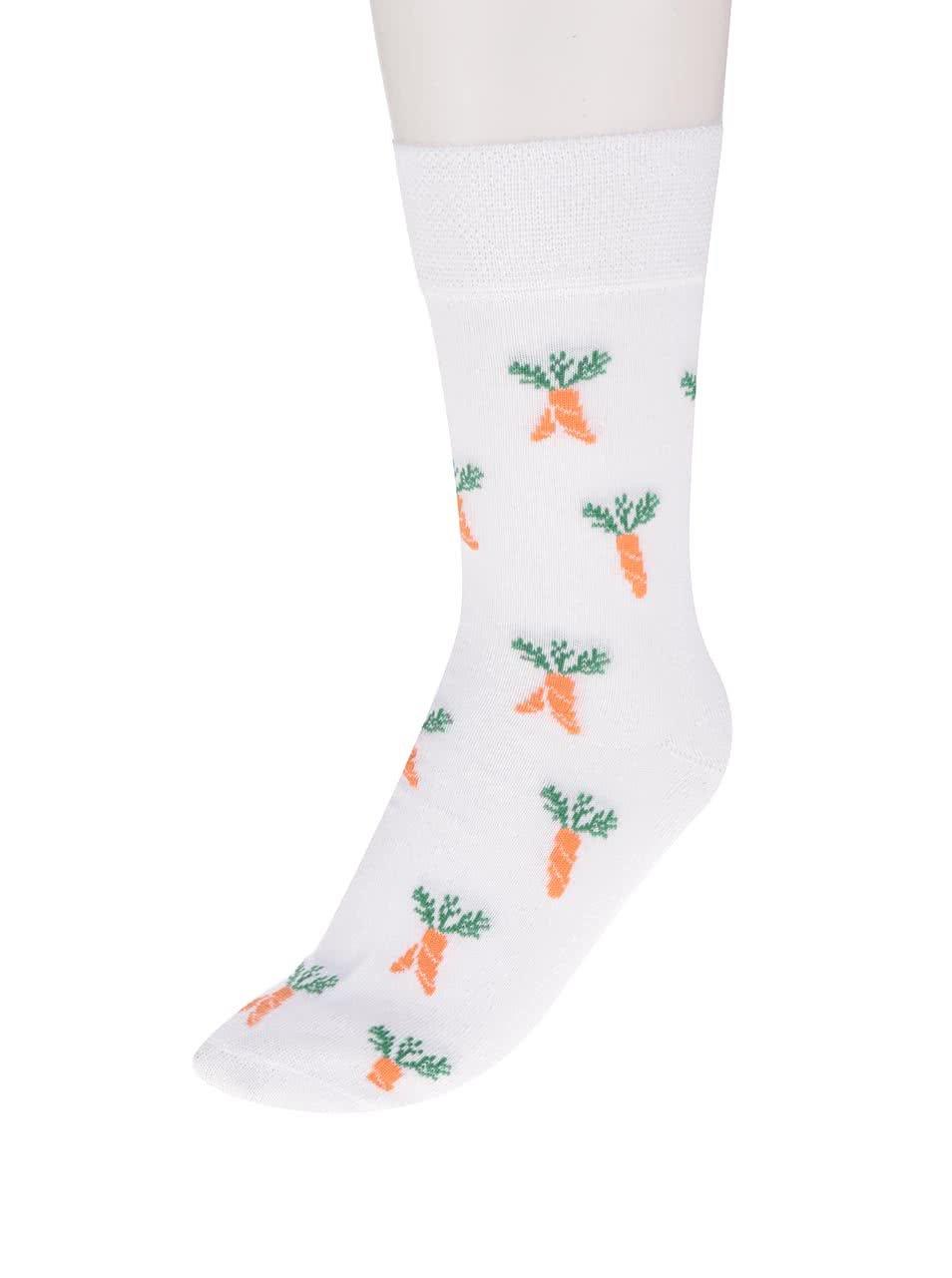 """""""Dobré"""" bílé unisex ponožky pro Zachraň jídlo"""