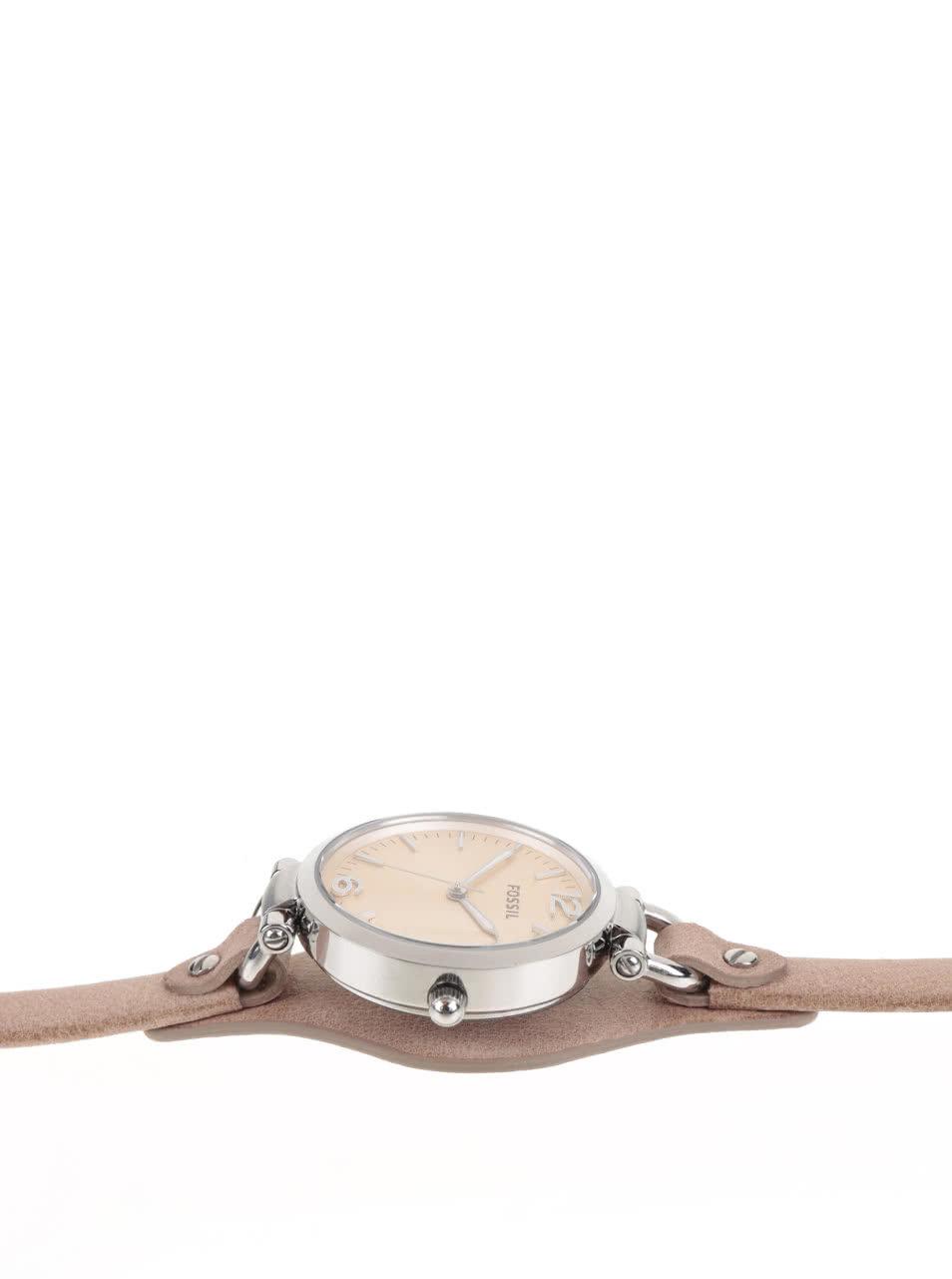 Dámske hodinky s béžovým koženým remienkom Fossil Georgia ... 26d12276f6b