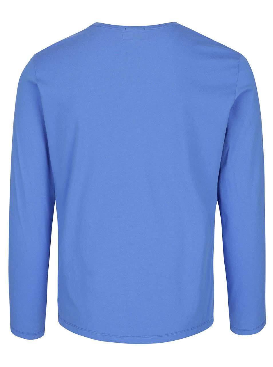 b433075f266 Modré pánské triko s potiskem a dlouhým rukávem Pepe Jeans Sails ...