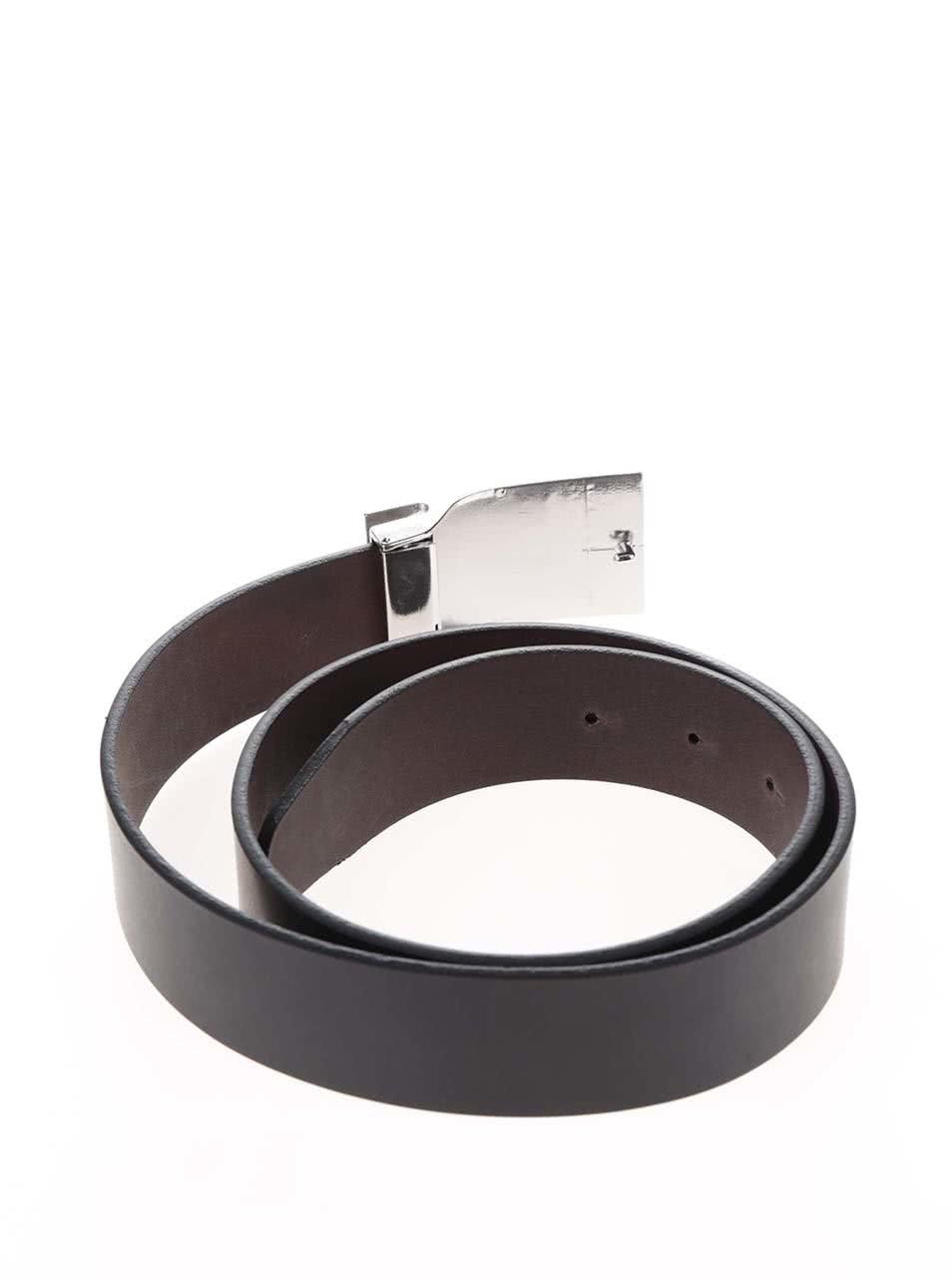 a3b1e9bc0ad ... Černohnědý pánský kožený pásek s vyměnitelnými sponami Tommy Hilfiger  ...