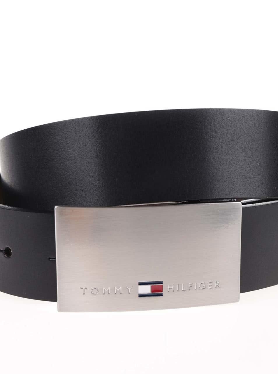 e9d6d635eca Černohnědý pánský kožený pásek s vyměnitelnými sponami Tommy Hilfiger ...