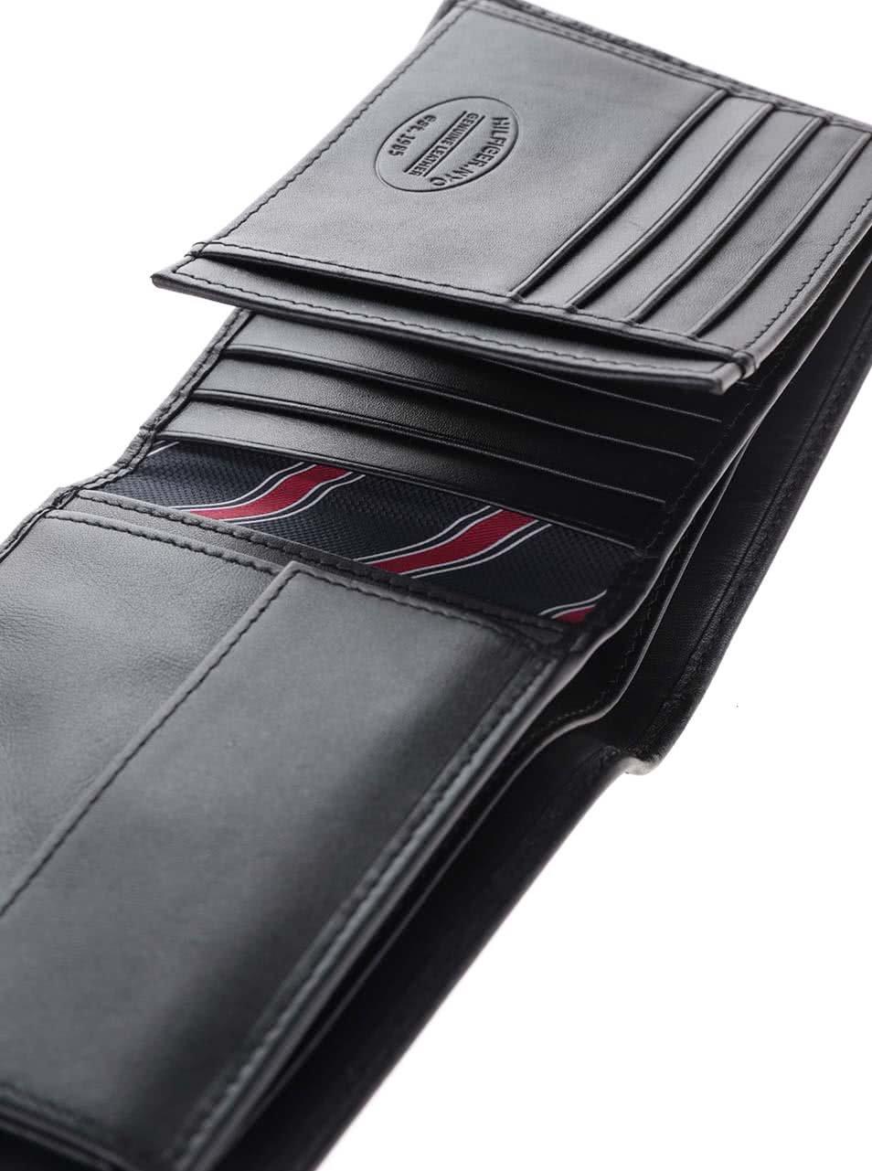 97d0345a91 Čierna väčšia pánska kožená peňaženka Tommy Hilfiger ...
