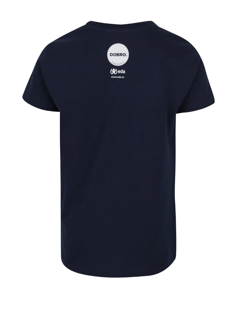 """""""Dobré"""" tmavě modré tričko s potiskem kachny pro EDU"""