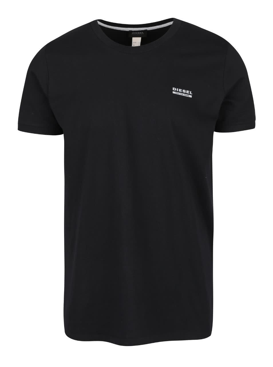 26135c85907d Čierne pánske tričko pod košeľu Diesel ...