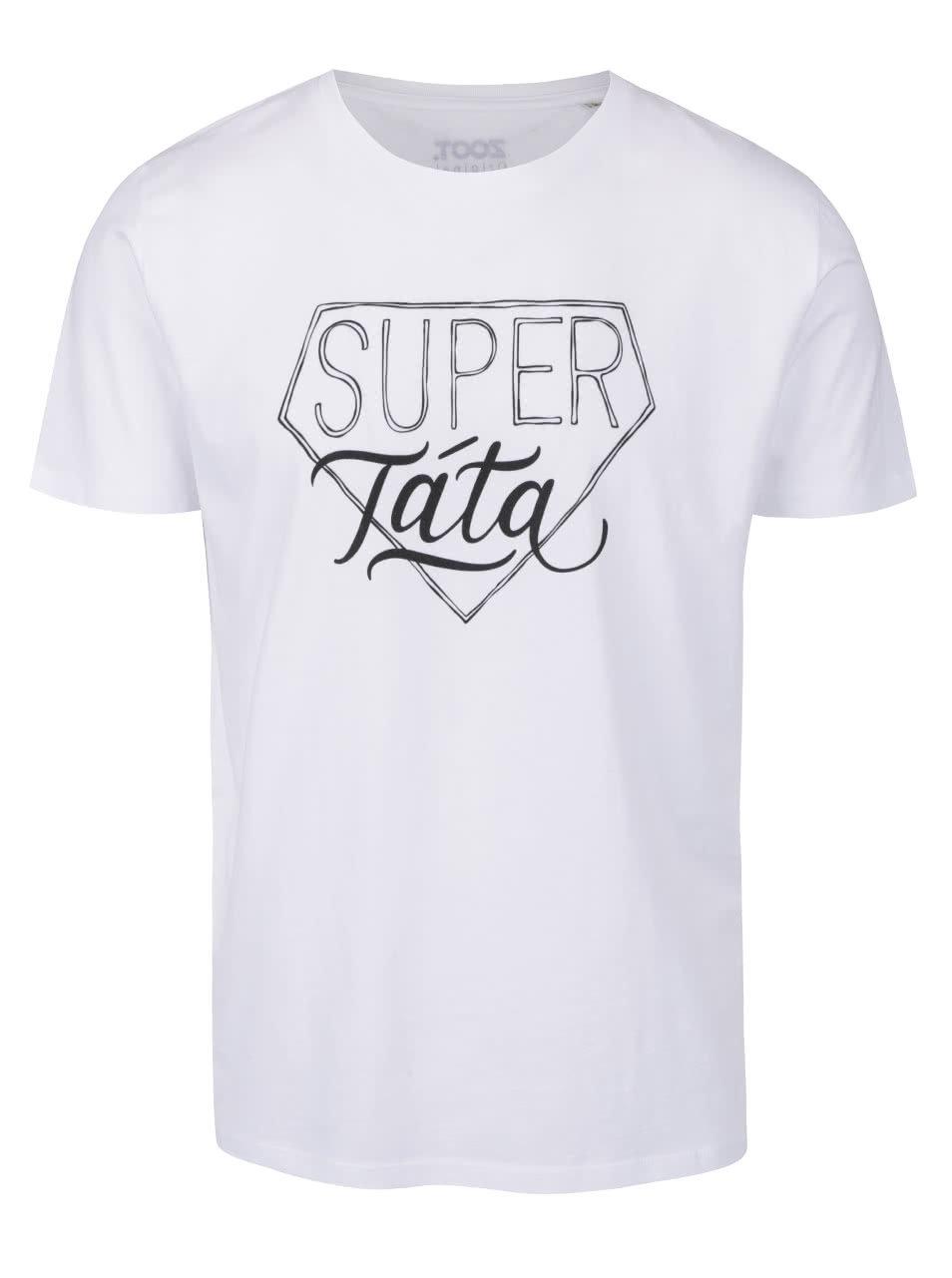 Bílé pánské tričko ZOOT Originál Super táta ... 5024ab71774