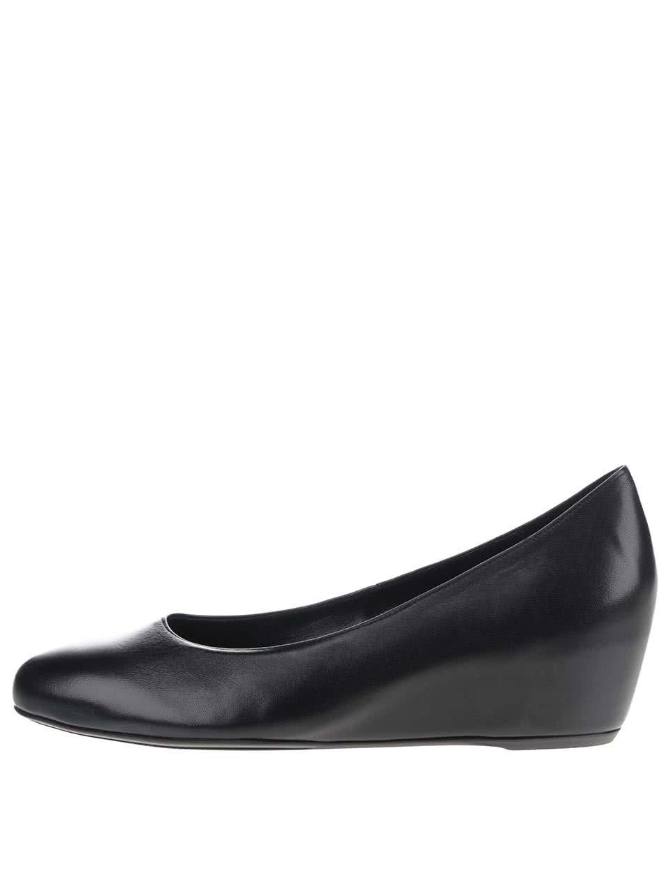 c3eacbf0841a Čierne kožené topánky na platforme Högl ...