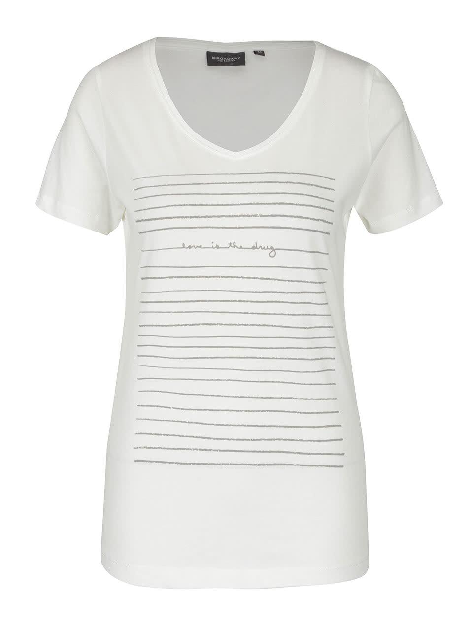 b00a85b05a0d Krémové dámske tričko s krátkym rukávom a potlačou Broadway Betty ...