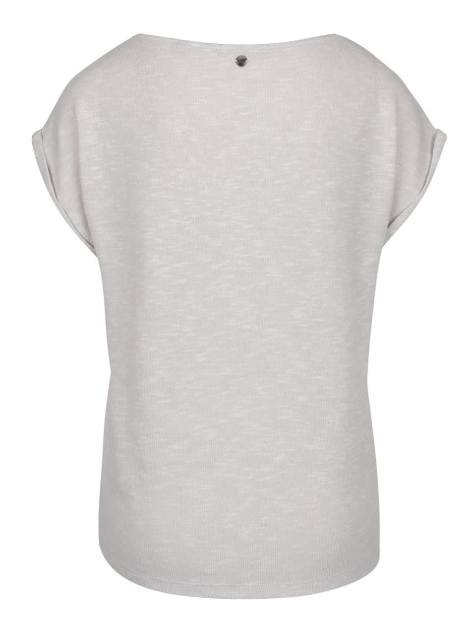 779f96851326 Fialovo-krémové dámské volnější tričko s potiskem s.Oliver ...