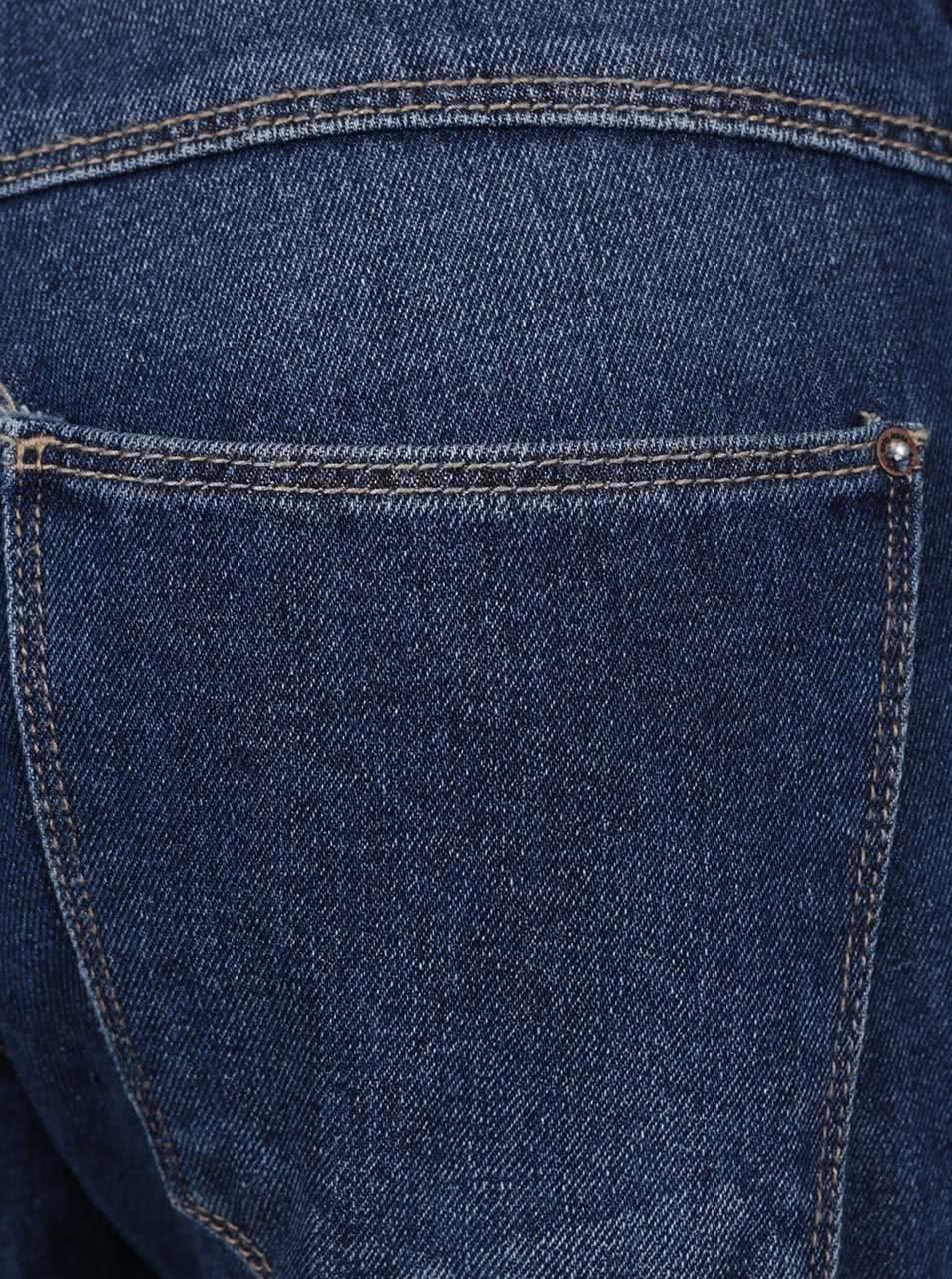 1ac423950c5 Modré džínové lacláče s potrhaným efektem ONLY Kim ...