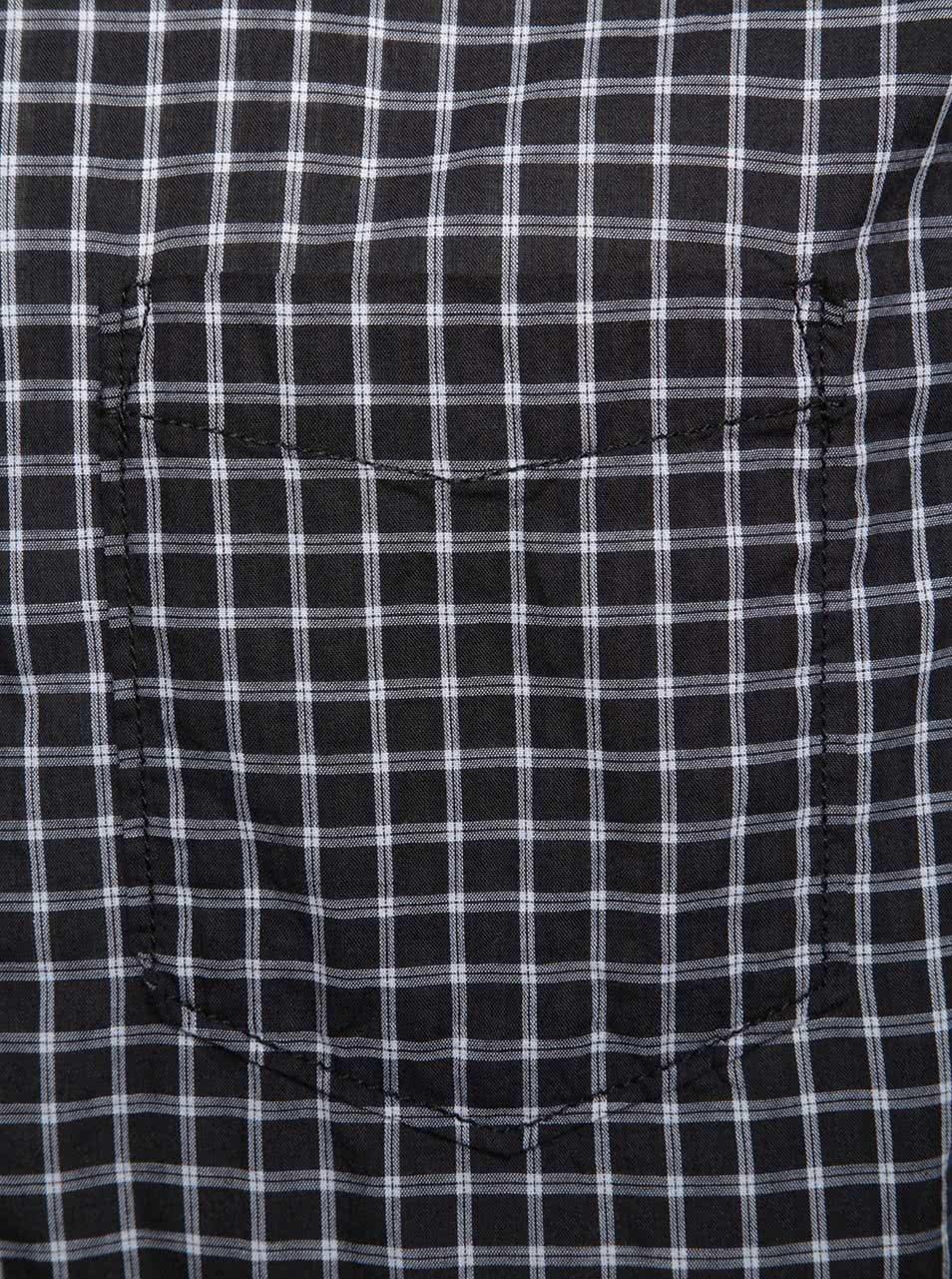 13cf1e2486d3 Bielo-čierna pánska kockovaná košeľa s.Oliver