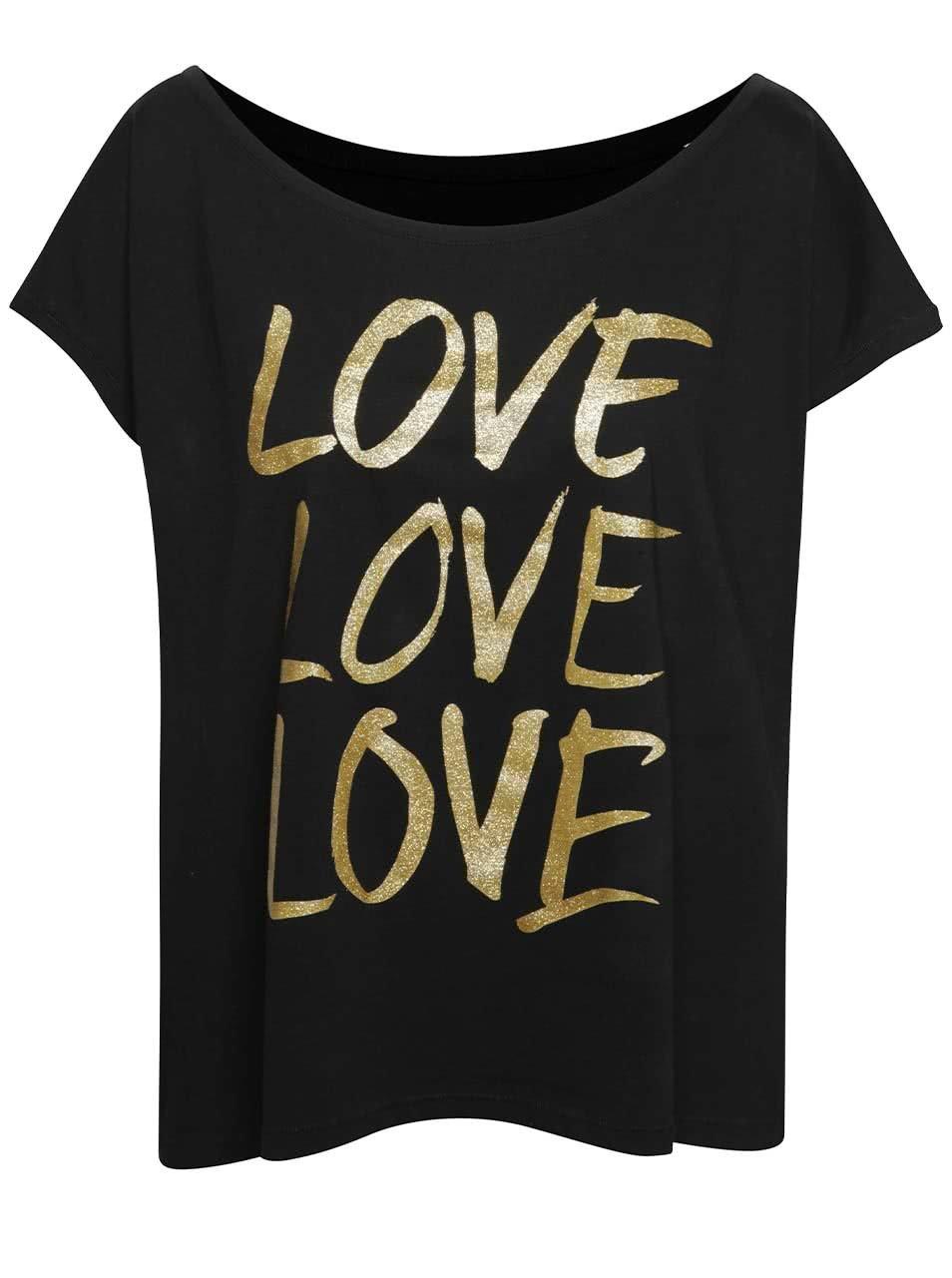 Černé dámské oversize tričko s potiskem ZOOT Originál Love love love ... 2ad25ded3f