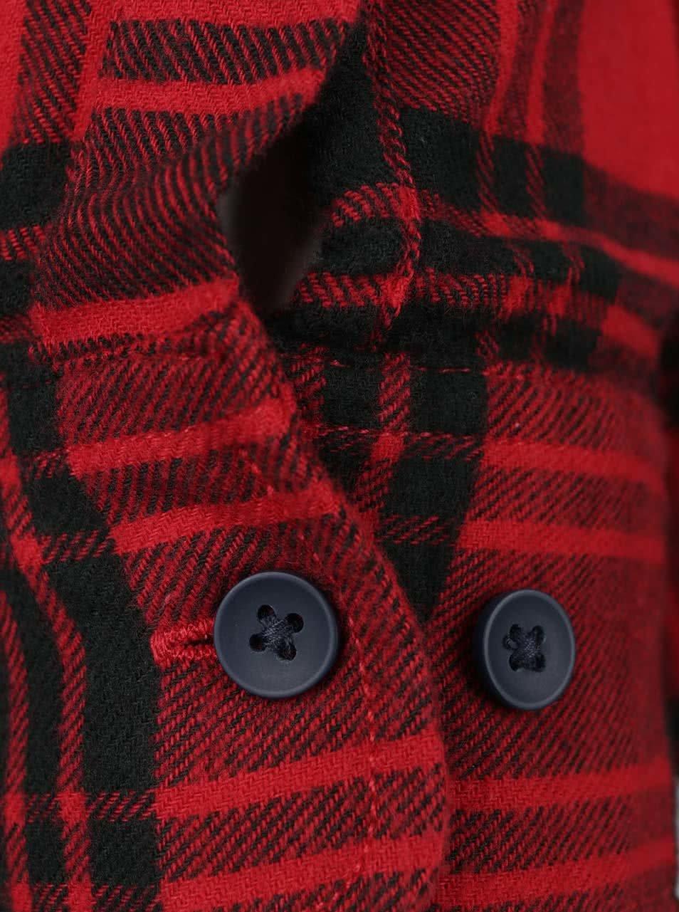 2cd52f4dc1c2 Čierno-červená károvaná flanelová košeľa Jack   Jones Peter ...