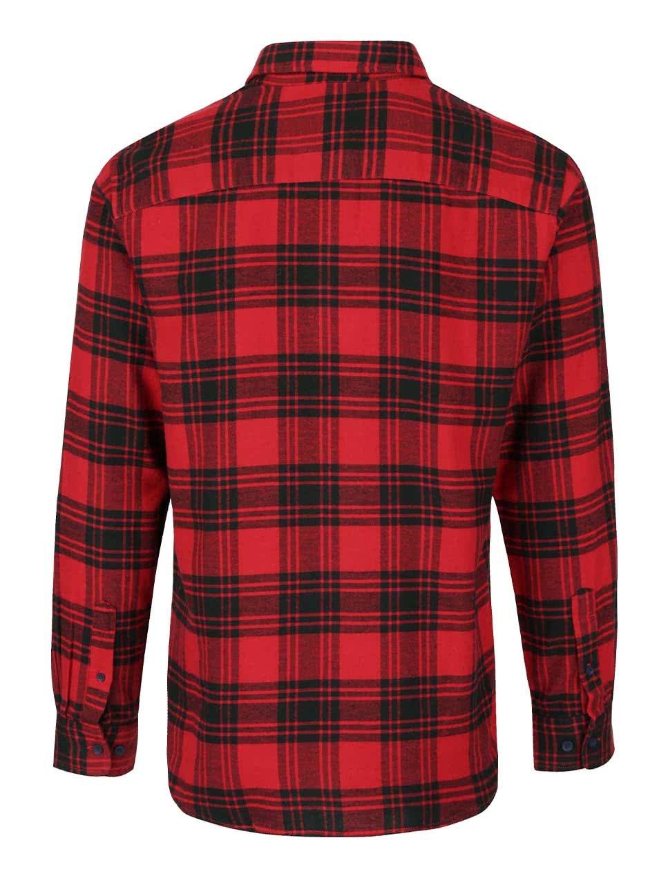 d3146a4052b3 Čierno-červená károvaná flanelová košeľa Jack   Jones Peter ...