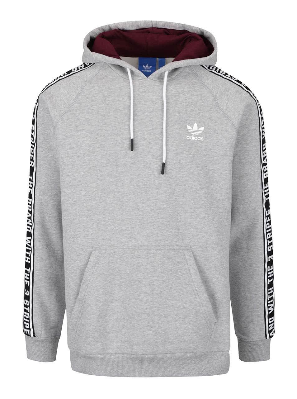 Světle šedá pánská mikina s potiskem adidas Originals ... 698630a25a5