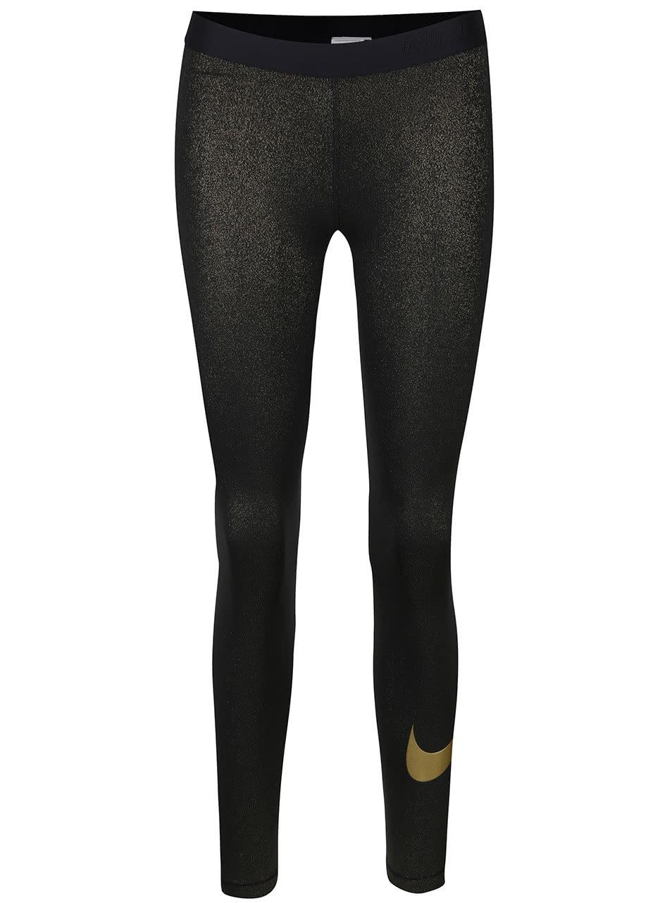 Dámské legíny ve zlato-černé barvě Nike Pro Cool Tight ... fa09ce5750