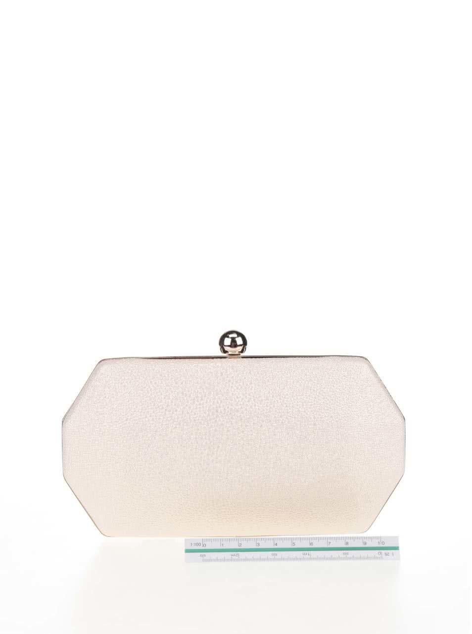 Krémová listová kabelka s odleskami v zlatej farbe Chi Chi London Alegra ... c0e01724737