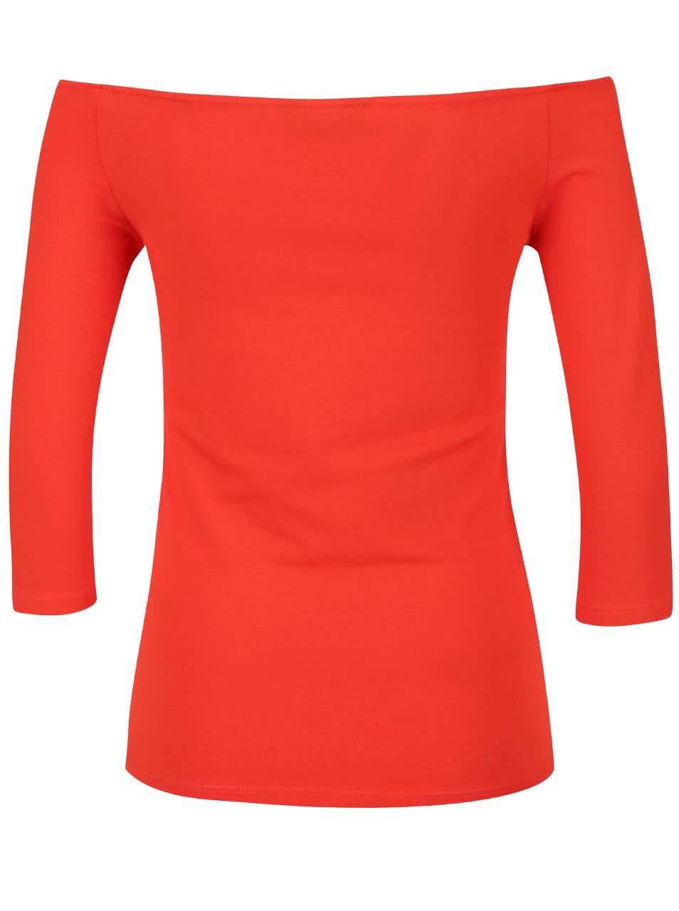 ea22d4a0d229 Červené tričko s lodičkovým výstrihom Dorothy Perkins ...
