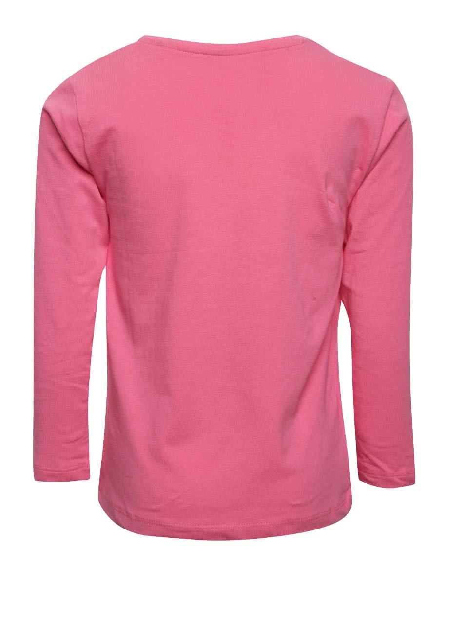 0bb3300744b8 Ružové dievčenské tričko s potlačou a dlhým rukávom 5.10.15.