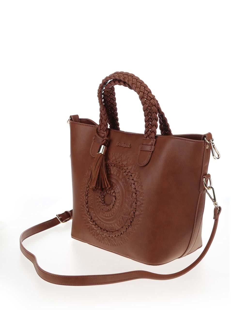 e6b5736d94 Hnedá kabelka s puzdrom a strapcom Desigual Florida Patricia ...