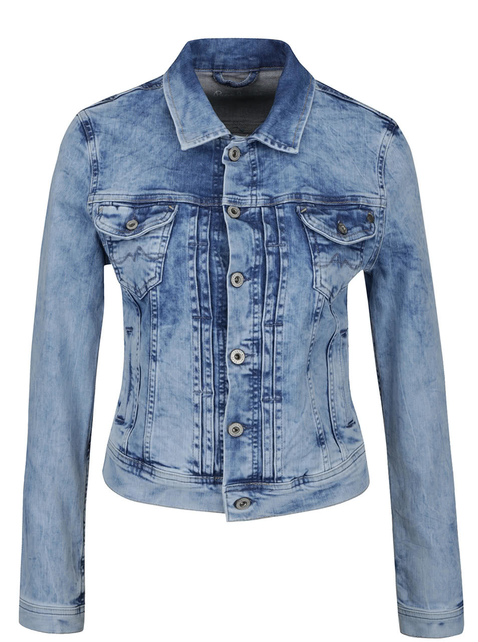 bdc36c9a50b Světle modrá dámská džínová bunda Pepe Jeans Mikas ...