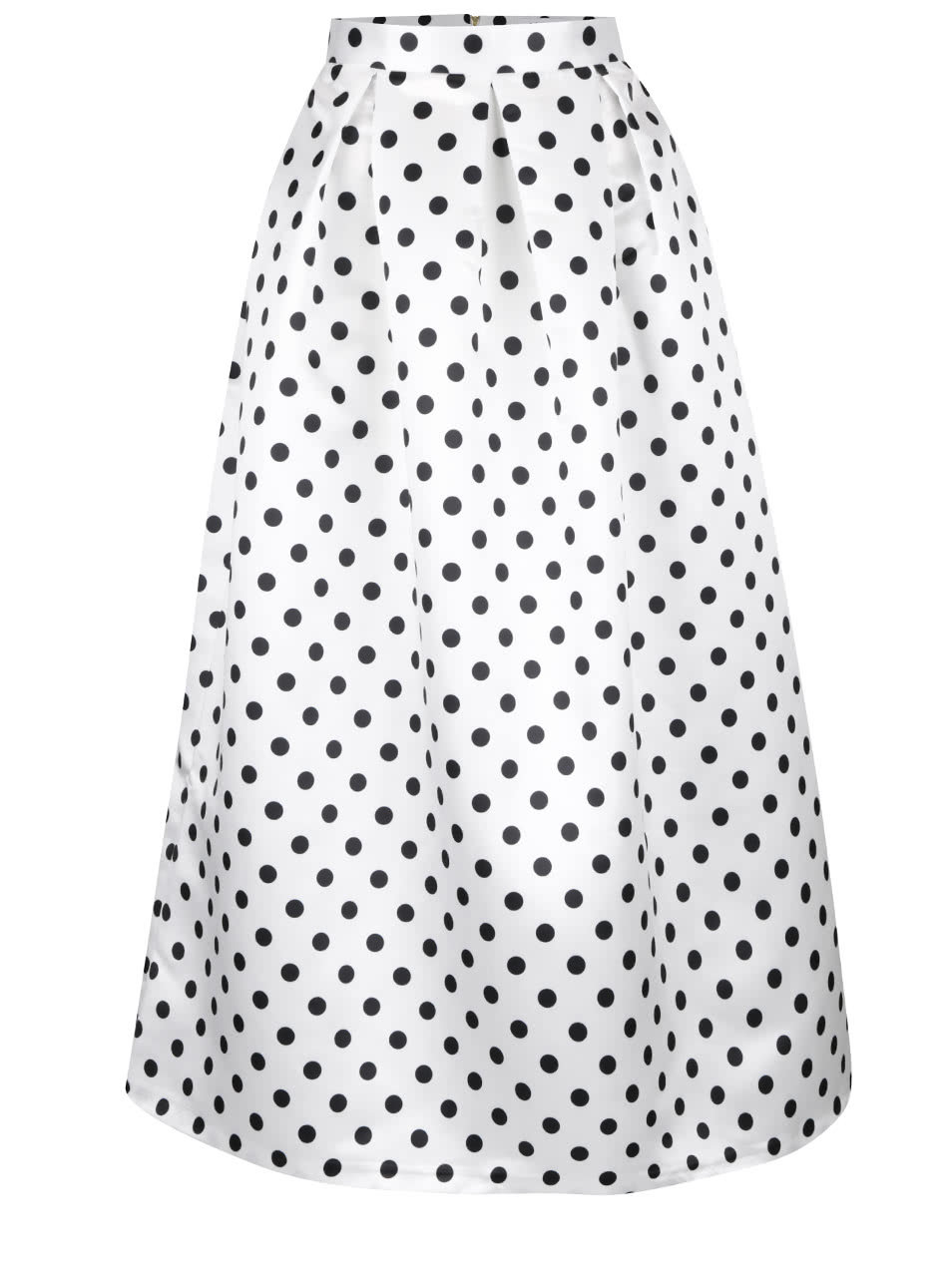 a845154ae72 Černo-bílá lesklá maxi sukně s puntíky Closet ...