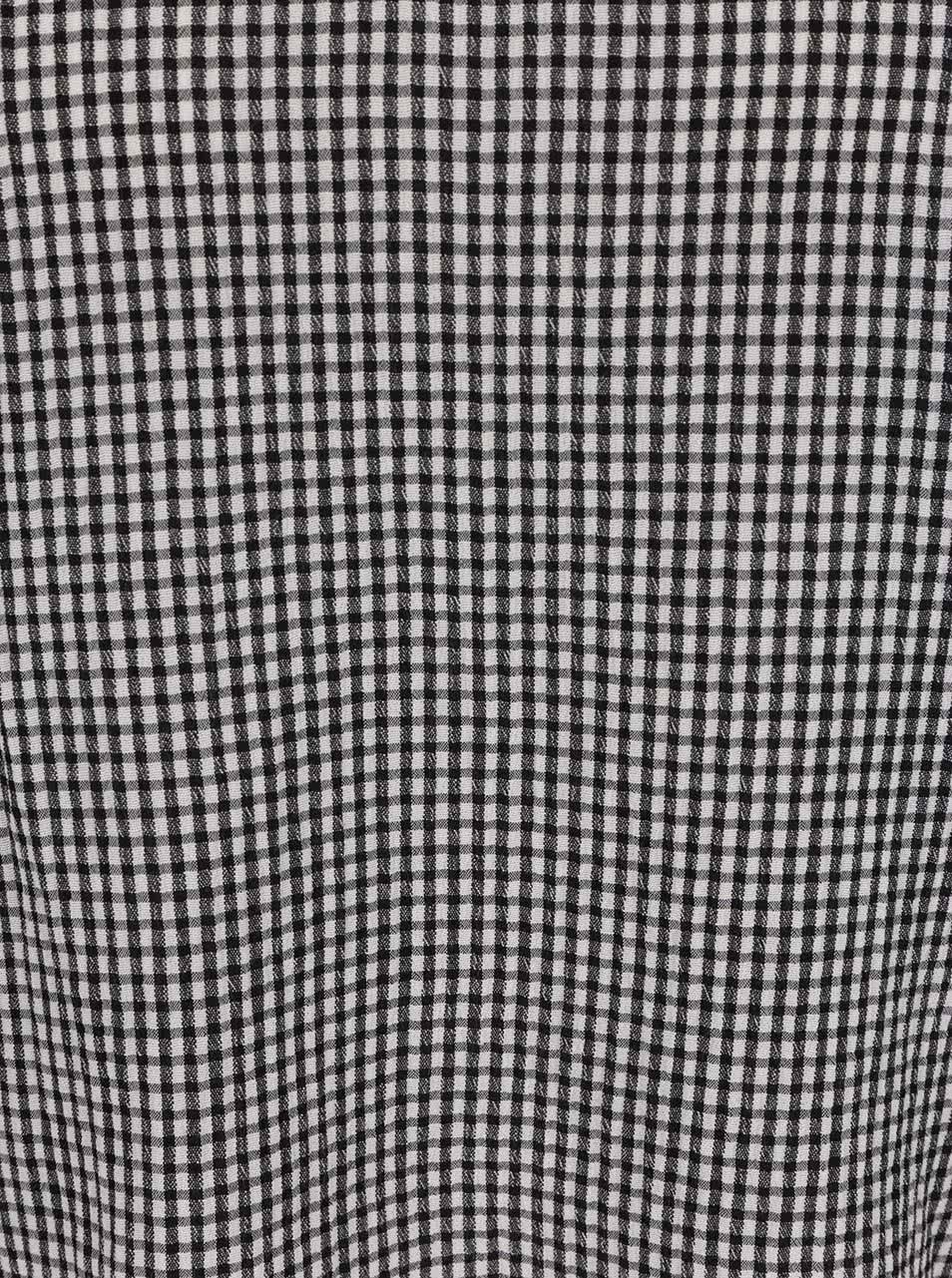Čierno-biela kockovaná blúzka s volánmi Miss Selfridge Petites ... 2fb427db3c1