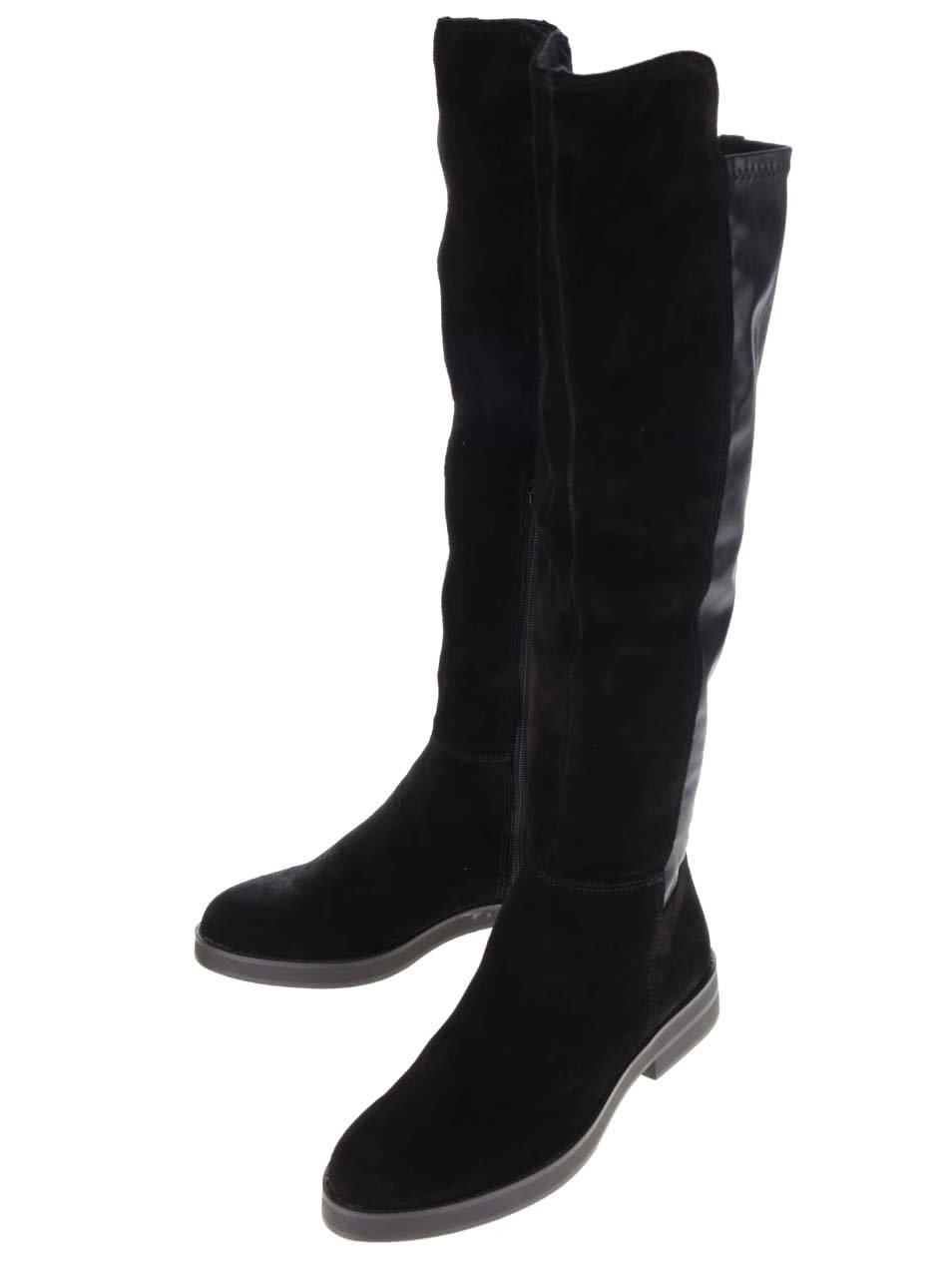 a24ed721bf278 Čierne kožené dámske čižmy s.Oliver | ZOOT.sk