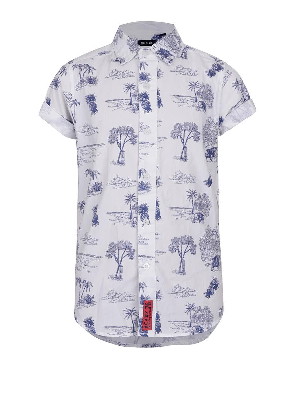Bílá klučičí košile s havajským vzorem a krátkým rukávem Blue Seven ... debf08fe2b