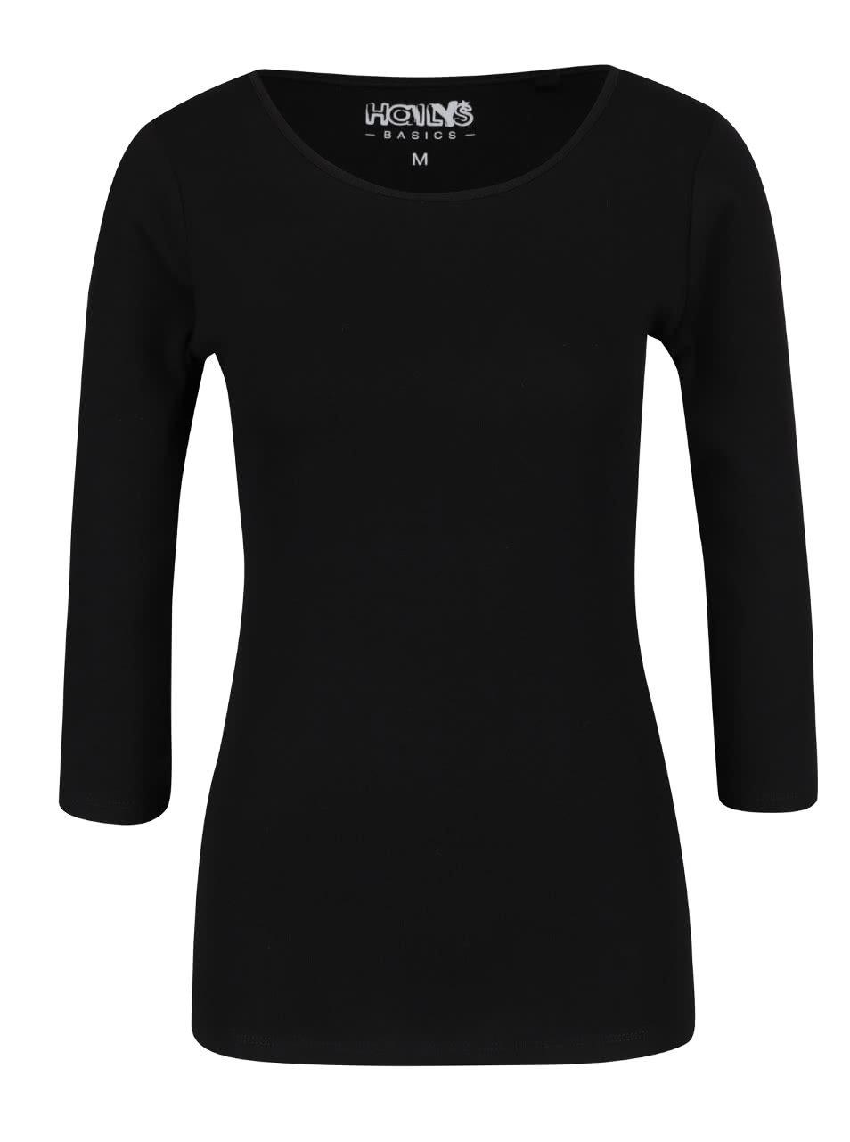Černé basic tričko s 3/4 rukávy Haily´s Zora