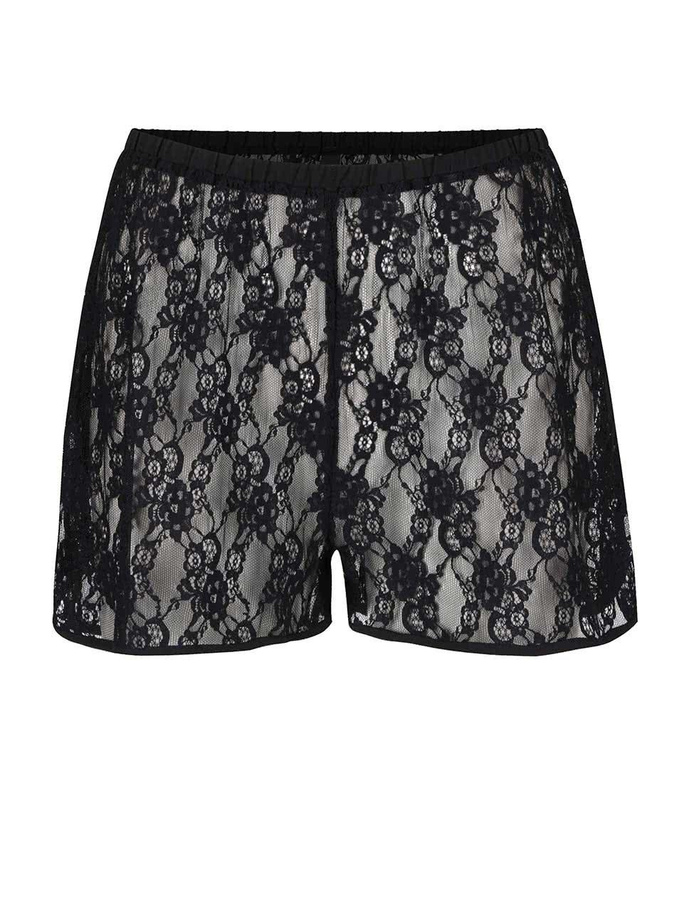 Černé krajkové pyžamové kraťasy Y.A.S Lara ... d6a6509be9