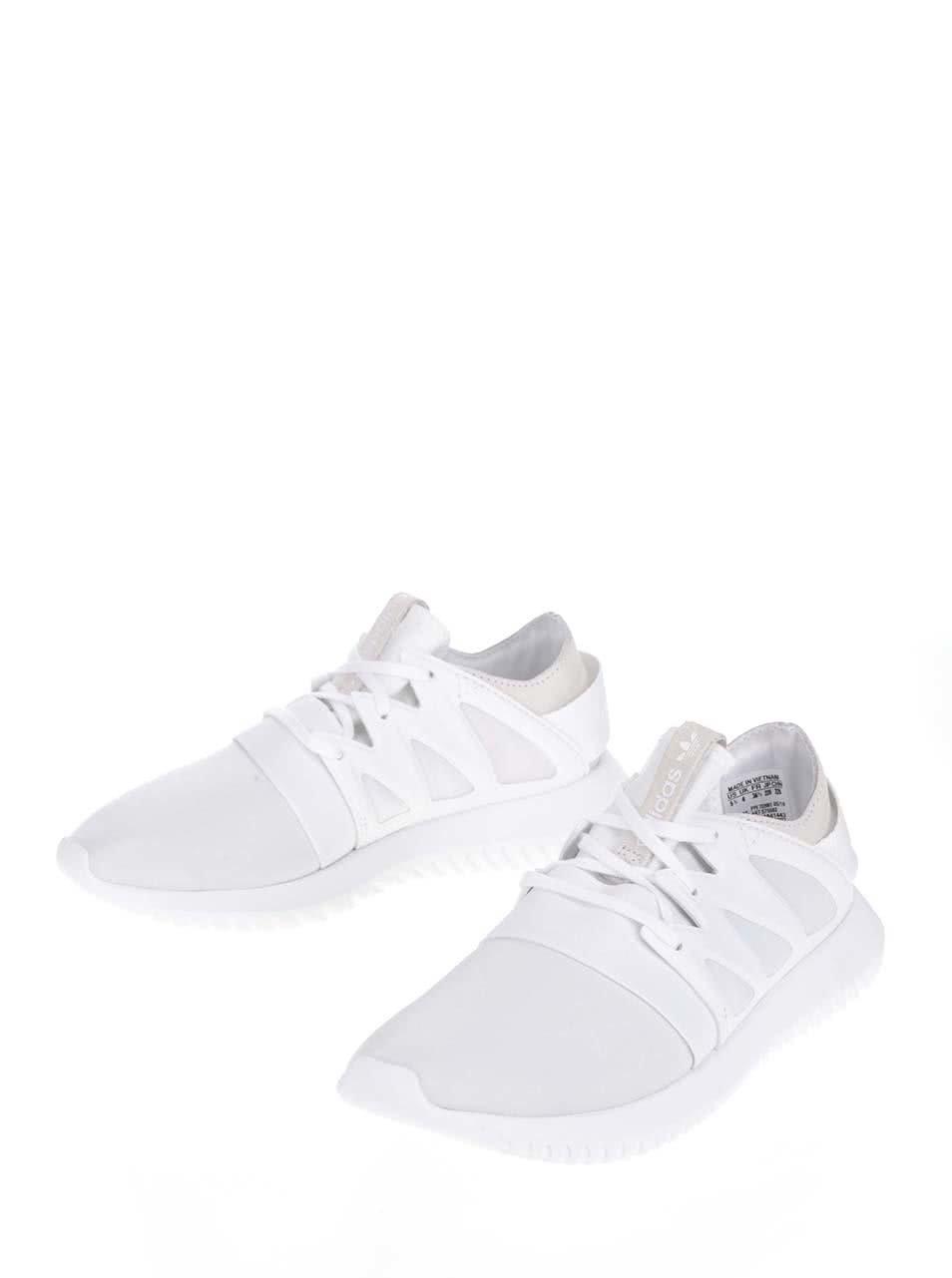 Biele dámske tenisky adidas Originals Tubular ... e1e33ce792