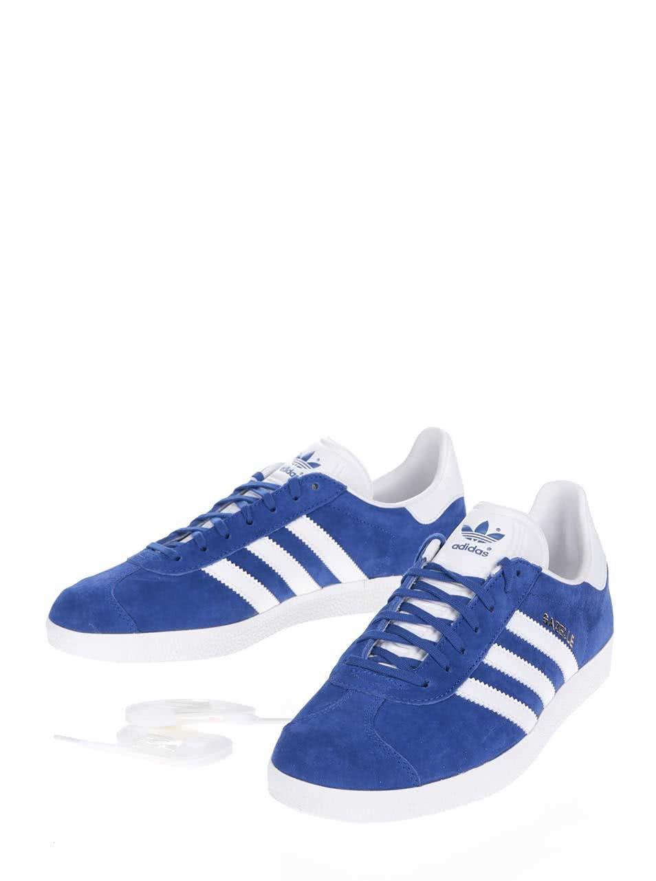94e90c23b3c Modré semišové tenisky adidas Originals Gazelle ...