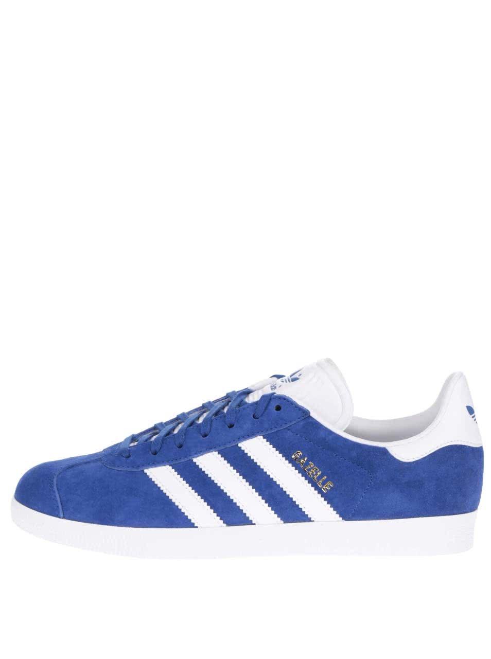6227dfb63d91 Modré pánske semišové tenisky adidas Originals Gazelle ...