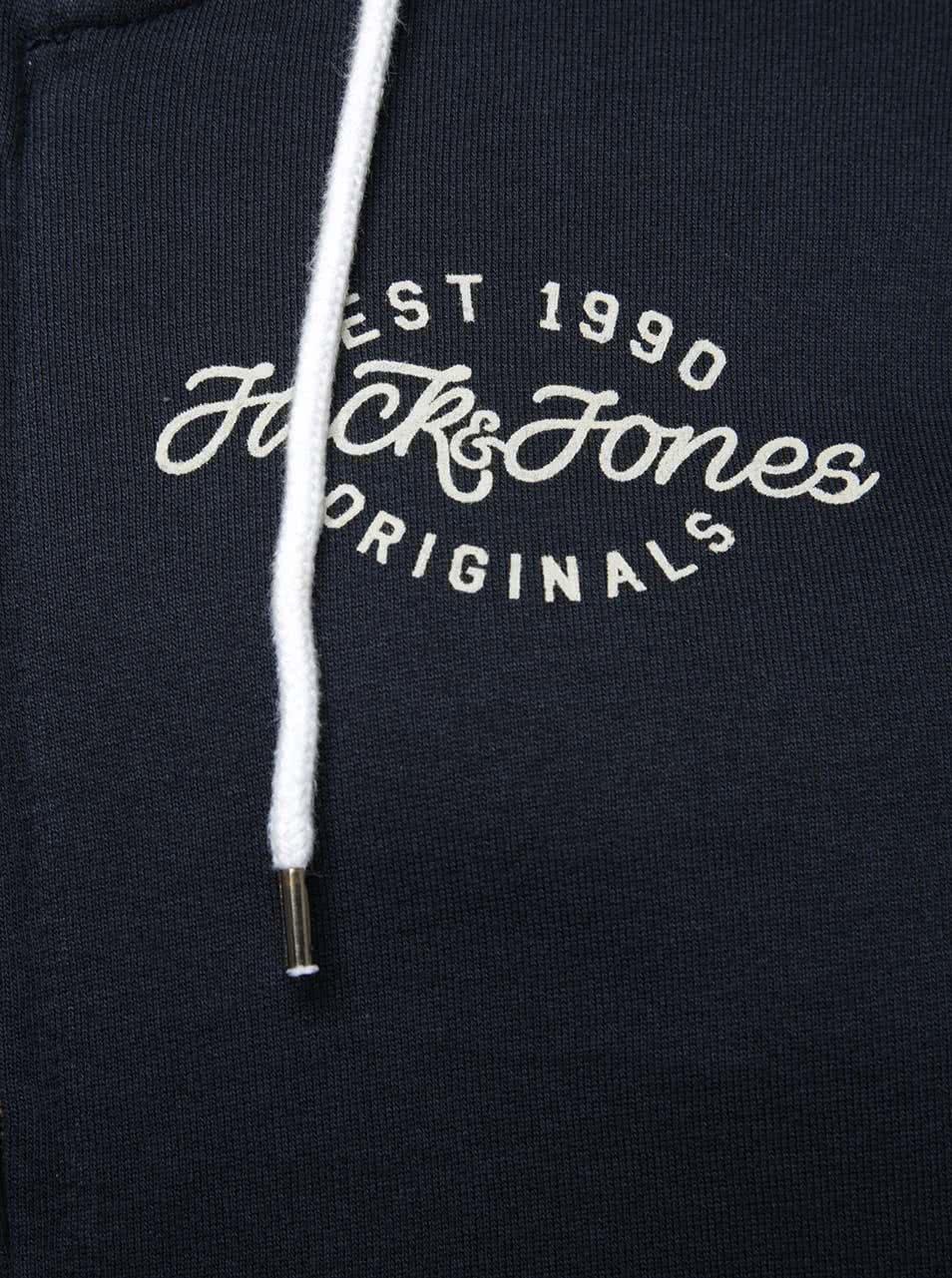 Tmavomodrá mikina na zips Jack   Jones Light ... a360ca3e9b