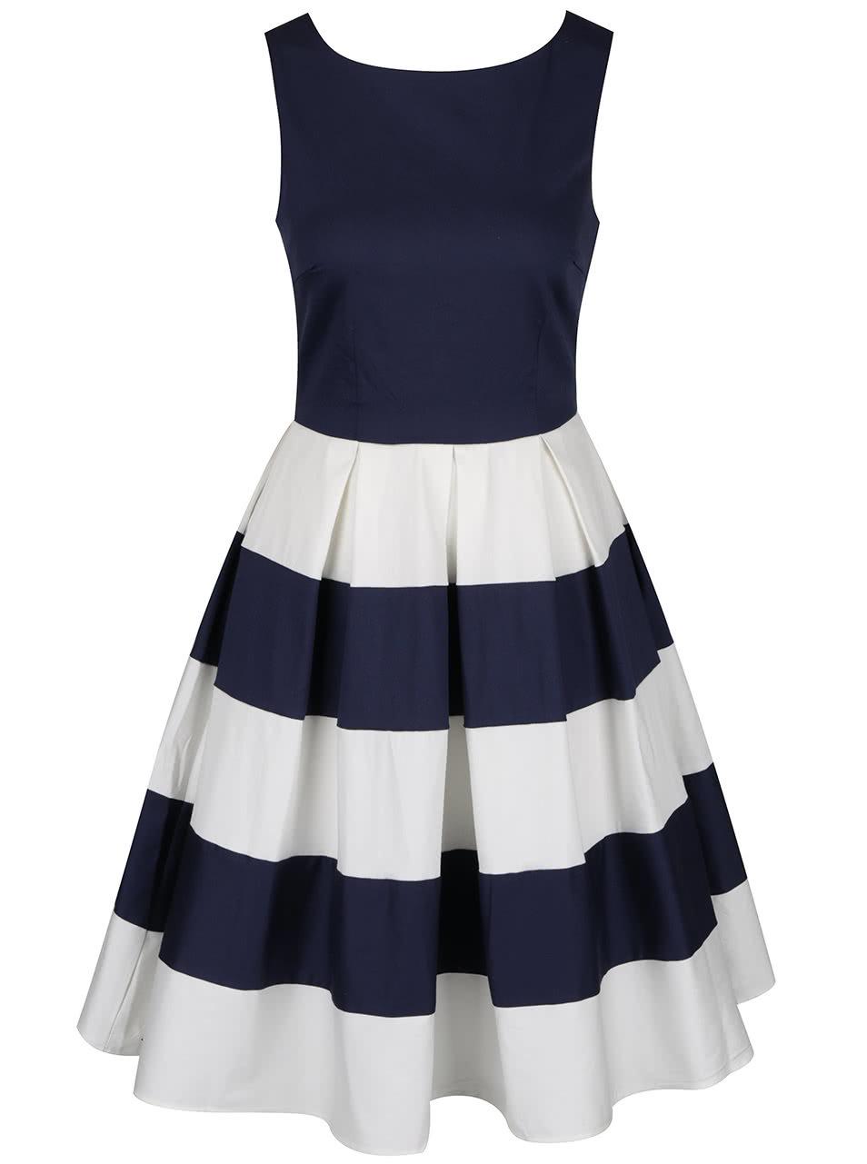 99d8c0442b11 Bílo-modré šaty s pruhovanou sukní Dolly   Dotty Anna ...