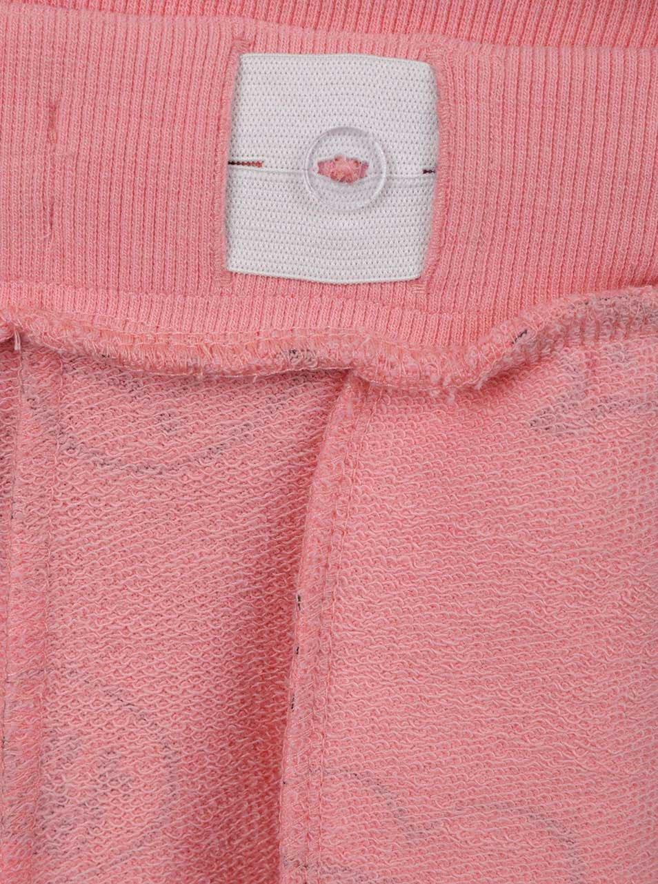 Ružové dievčenské tepláky s potlačou name it Hbine ... 02af664c1a5