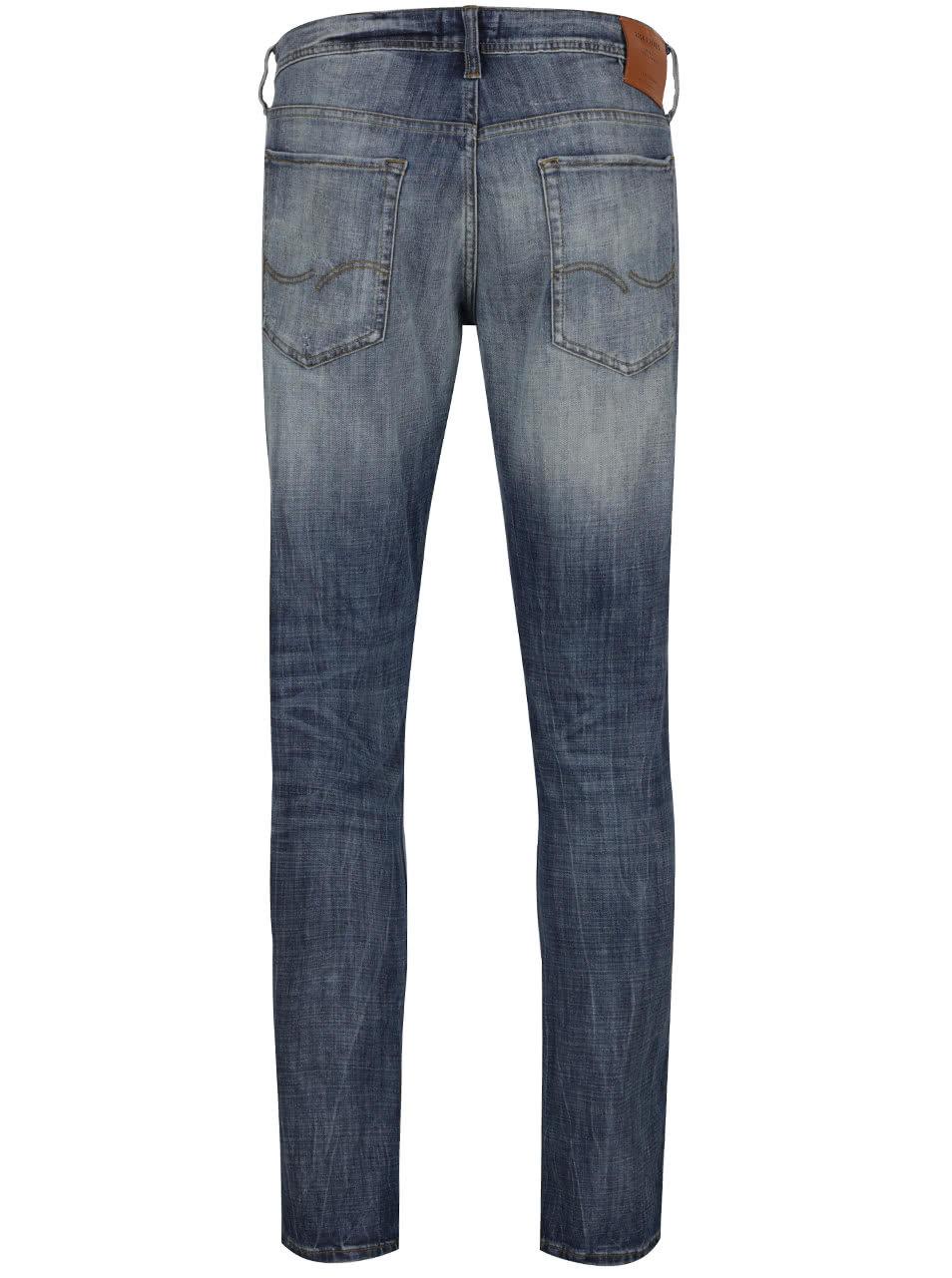 Modré slim fit džíny s potrhaným efektem Jack   Jones Glenn ... 839886f762