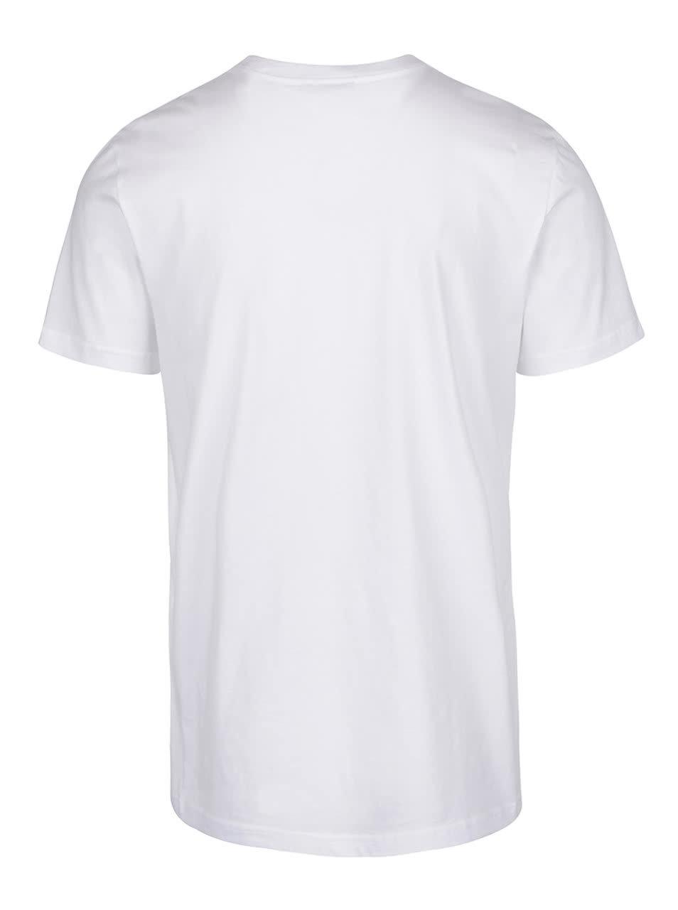 Biele pánske tričko s potlačou adidas Originals Editorial Tongu ... a0c4cb3393e