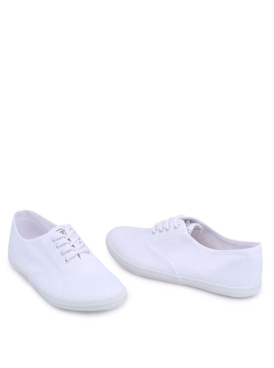 Bílé plátěné tenisky Tamaris ... 1fe06d7c53