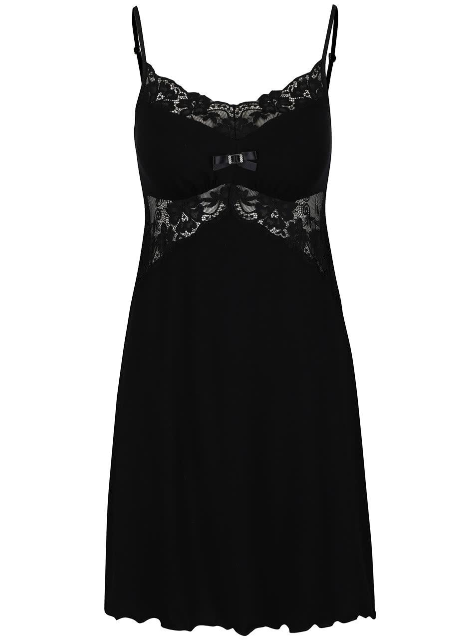 Černá noční košilka s krajkou Eldar Bona