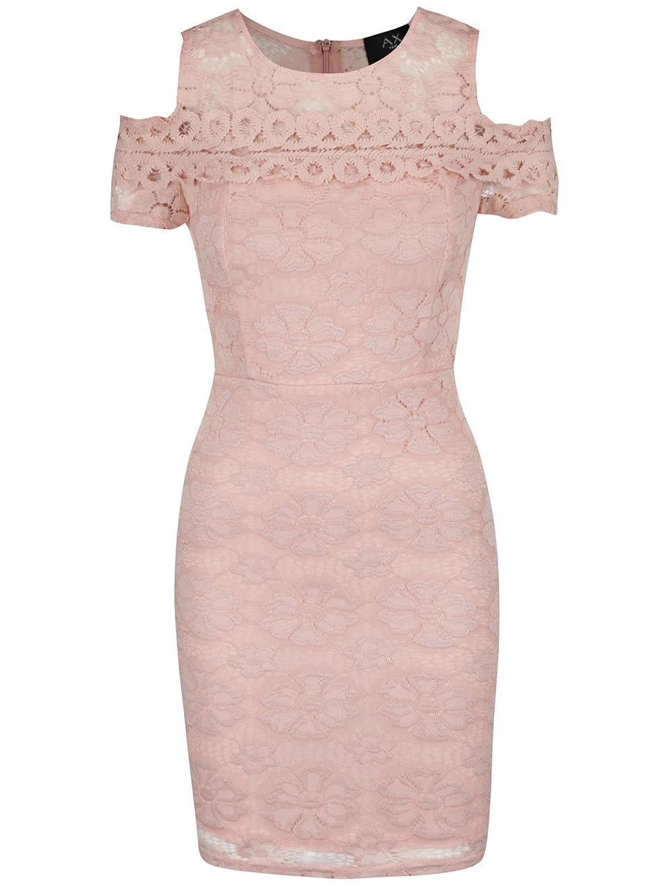 6329f15d6a30 Růžové krajkové šaty s průstřihy na ramenou AX Paris ...