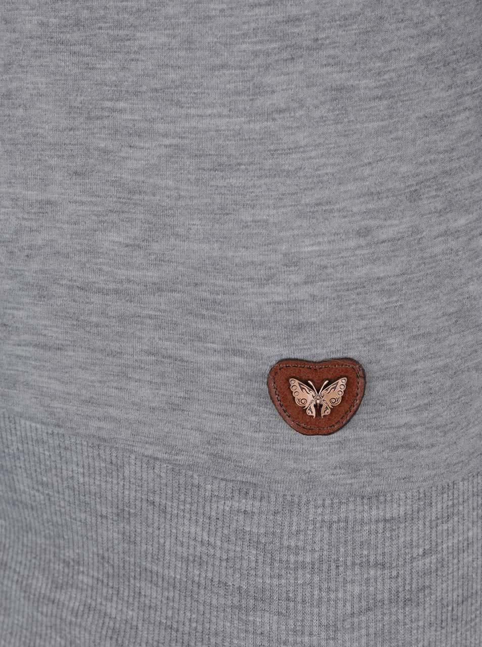 95eb32311e1b Sivé dlhé žíhané tričko s 3 4 rukávom Haily s Nery ...