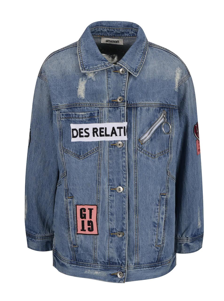 aeccffa44f Modrá džínová bunda s nášivkami Haily s Lavie ...