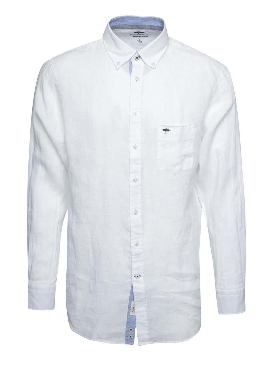 Bílá lněná košile Fynch-Hatton ... c9fb376472