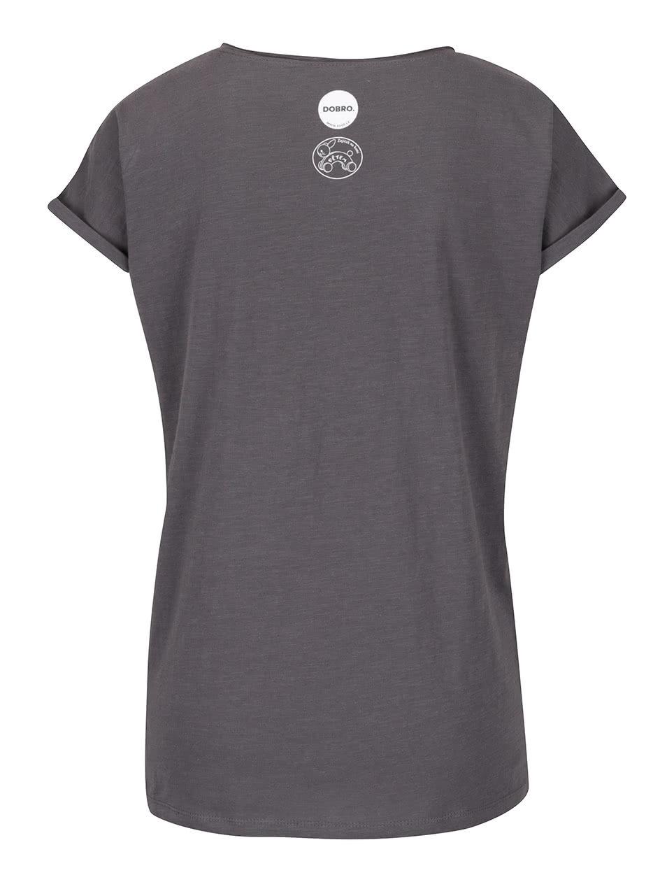 """""""Dobré"""" tmavě šedé dámské tričko pro Zajíčka na koni"""