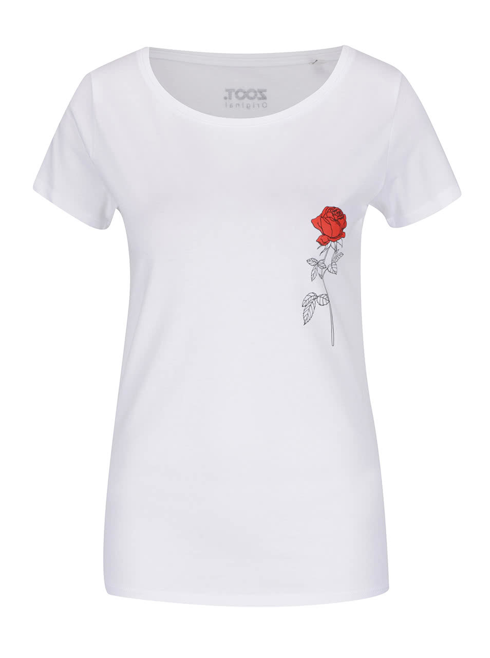 1554d7bc3e6 Bílé dámské tričko ZOOT Originál Růže ...